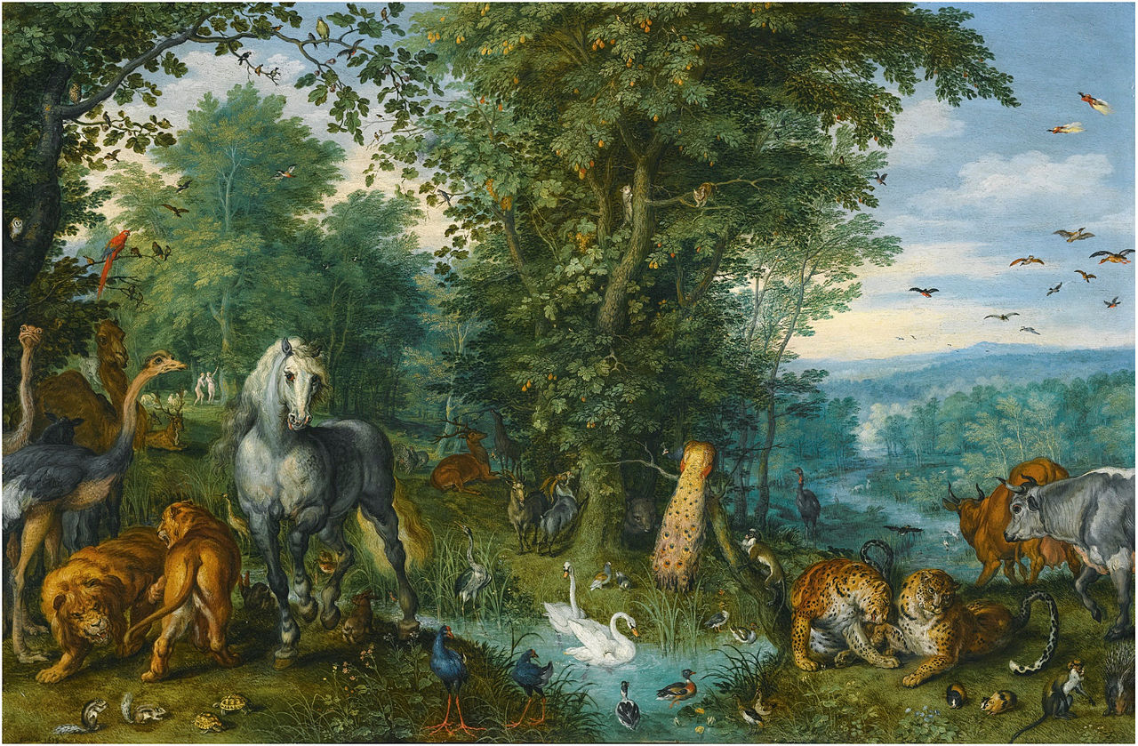 File Jan Brueghel The Elder The Garden Of Eden With The Fall Of Wikimedia Commons