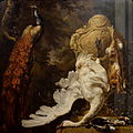 Jan Weenix (1708) Peacock and hunting trophies.JPG