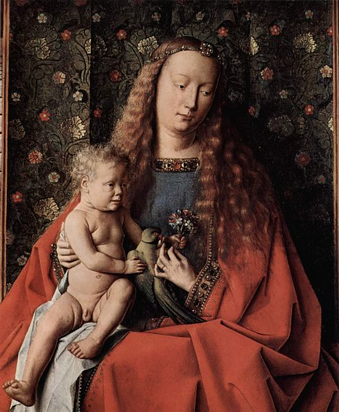 Jan van Eyck - Virgin and Child with Canon van der Paele 1434