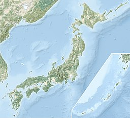 Location of Lake Nojiri in Japan.