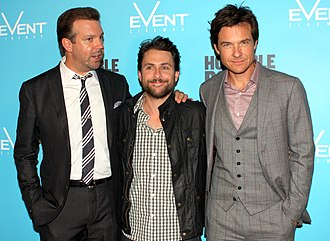 Jason Sudeikis - Sudeikis with co-stars Charlie Day and Jason Bateman at the 2011 premiere of Horrible Bosses.