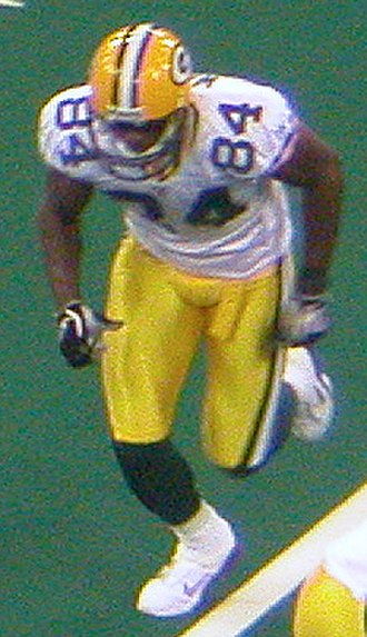 Javon Walker - Walker playing for the Green Bay Packers in 2004.