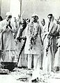 Jawaharlal Nehru at the time of the marriage of Indira and Feroze Gandhi.jpg