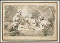 Jean-honoré fragonard, la cena in emmaus (da caravaggio), 1760-61.jpg