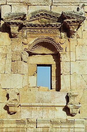 Temple of Artemis, Jerash - Image: Jerash 29 artemida temple(js)