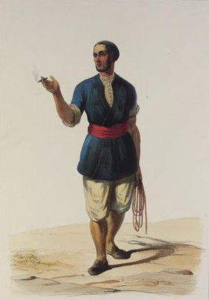 History of the Jews in Gibraltar - Typical dress of a Jew in Gibraltar in the 19th century