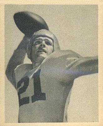 Jim Hardy - Hardy on a 1948 Bowman football card