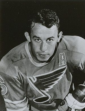 St. Louis Blues - Jim Roberts was the first selected skater by the Blues in the 1967 NHL Expansion Draft. He played with the Blues from 1967 to 1972.
