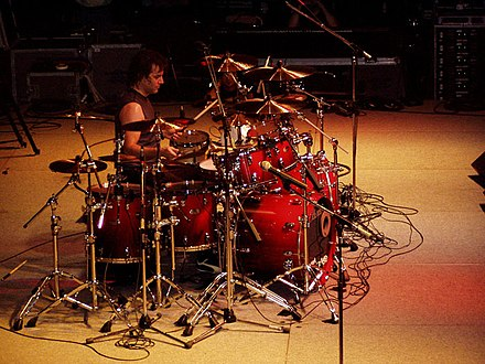 Drummer Jimmy DeGrasso officially joined Suicidal Tendencies in 1992 as R.J. Herrera's replacement and stayed with the band until their hiatus in 1995. Jimmy DeGrasso by bigdrumthump.jpg
