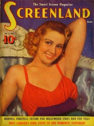 Screenland - Cover of the July 1939 issue featuring Joan Blondell