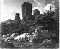 Johann Heinrich Roos - Ruhende Hirtin und Viehherde vor Felsen und Ruinen - 1704 - Bavarian State Painting Collections.jpg