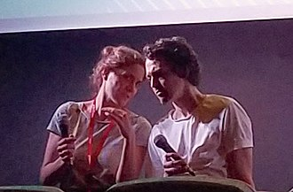 Swedish filmmaker Johannes Nyholm (right) presenting his film Koko-di Koko-da at Buenos Aires International Festival of Independent Cinema 2019. Johannes Nyholm presenting Koko-di Koko-da at BAFICI 2019.jpg