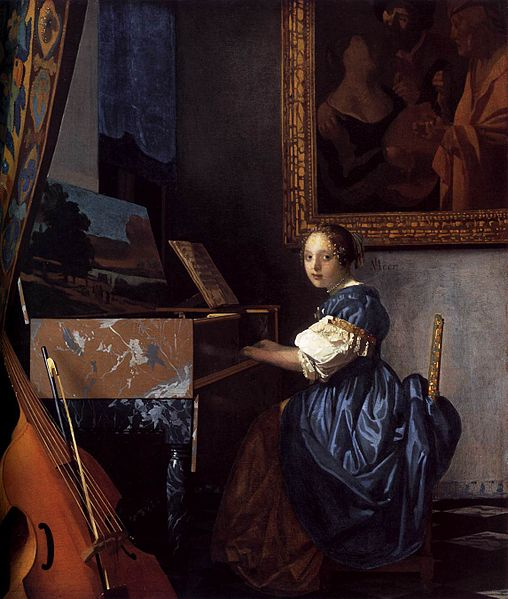 Bestand:Johannes Vermeer - Lady Seated at a Virginal - WGA24706.jpg