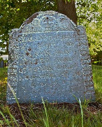 John Leavitt - Here Lyeth Buried Ye Body of Deacon John Leavitt, Aged 83 Years, Died November Ye 20, 1691
