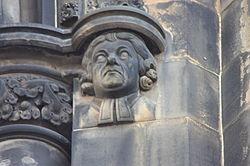 John Home as depicted on the Scott Monument.JPG