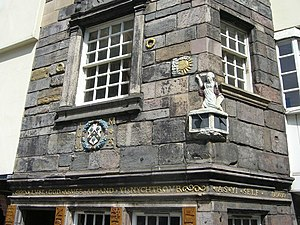 English: John Knox's House detail The inscript...