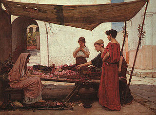 A Grecian Flower Market