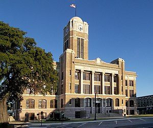 Johnson County, Texas - Image: Johnson county courthouse 2009