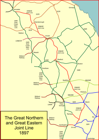 Great Northern and Great Eastern Joint Railway - The Joint Line when completed in 1897