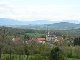 A general view of Jonzier-Épagny