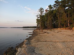 Jordan Lake from Ebenezer Church shore.jpg