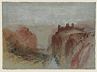 The Rham Plateau, Luxembourg, from the Alzette Valley c. 1839, watercolor on paper, Tate Britain