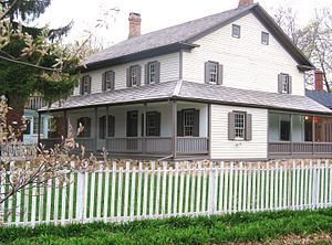 Kitchener, Ontario - The Joseph Schneider Haus was built by one of the early settlers in Berlin, Ontario, circa 1816, and still stands.