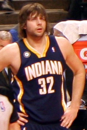 Josh McRoberts - McRoberts in December 2009 as a member of the Pacers.