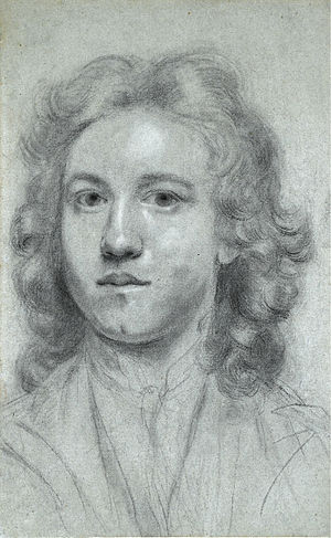 Joshua Reynolds - Self-portrait, aged 17, entitled, Uffizi Self-portrait