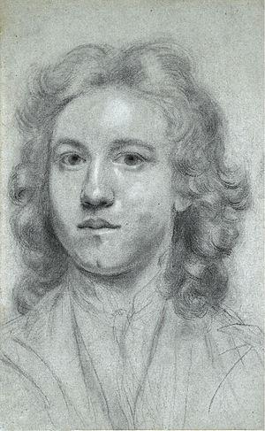 Joshua Reynolds - Self-portrait, aged 17, entitled, Uffizi Self-portrait