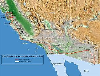 Juan Bautista de Anza National Historic Trail Wikipedia