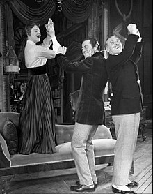 Julie Andrews Rex Harrison Robert Coote My Fair Lady.JPG