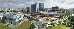 Jurong East MRT Station - Aerial perspective of Jurong East Interchange