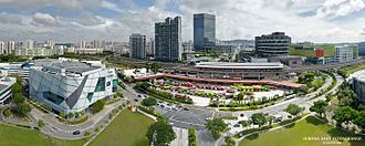 Jurong East MRT station - Aerial perspective of Jurong East Interchange