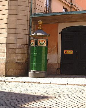 Källargränd - An old urinal in the alley.
