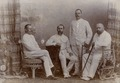 KITLV - 178725 - Stafhell & Kleingrothe - Medan-Deli-Sumatra O.K. - Studio portrait of four European men in Medan, Sumatra - circa 1900.tiff