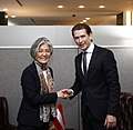 Kang Kyung-wha with Sebastian Kurz at the UN General Assembly - 2017 (37212509871).jpg