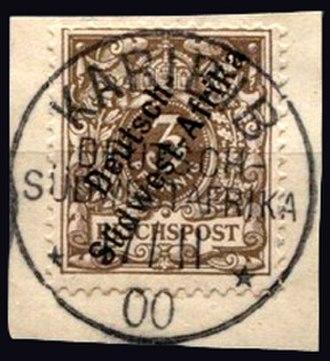 Karibib - Stamps for German South West Africa postmarked Karibib 1900