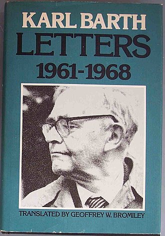 Karl Barth - Photo of Karl Barth on jacket of one of his books