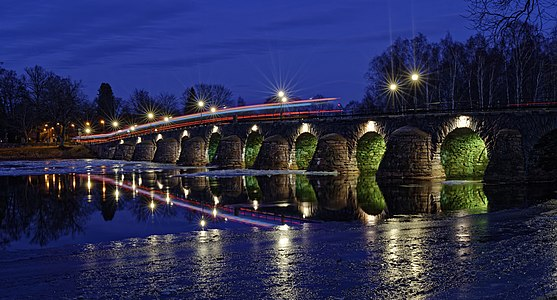 East bridge, a stone bridge in Karlstad, Sweden