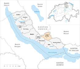 Oetwil am See – Mappa