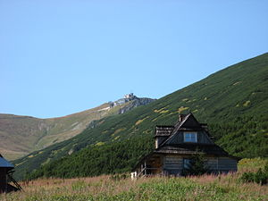Kasprowy Wierch - View from the base of the mountain.