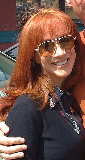 English: Kathy Griffin filming season four of ...