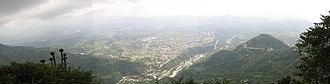 Katra, Jammu and Kashmir - Panoramic view of Katra, seen from Vaishno Devi.