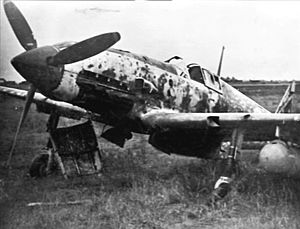 Kawasaki Ki-61 at Clark Field 1945.jpg