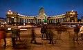 Kazansky Cathedral in SPB at Night (01).jpg