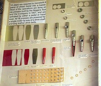 Kazoo - Kazoo manufacturing steps