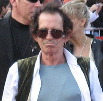 Pirates of the Caribbean: At World's End - Keith Richards, who plays Jack's father Captain Teague, at the premiere.