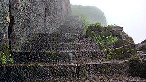 Kenjalgad - Rock cut steps