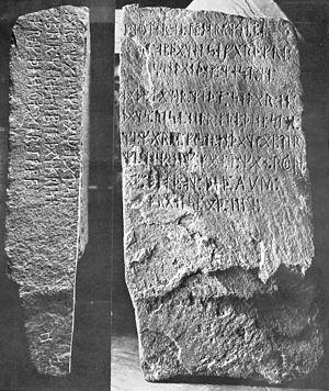 Kensington Runestone - Image: Kensington runestone flom 1910